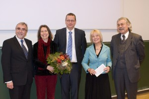v. li.: Heinrich C. Mayr, Christine Wächter, Alexander Felfernig, Jutta Menschik-Bendele, Hans-Joachim Bodenhöfer | Foto: aau/Hoi
