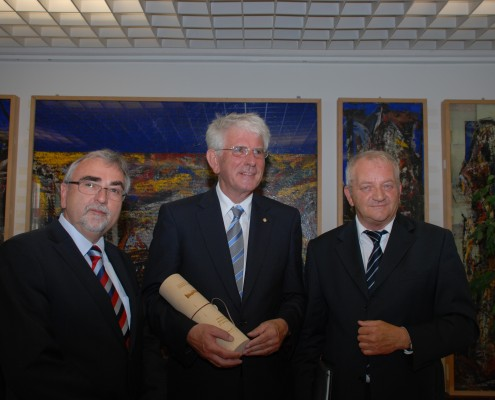 v. li.: Heinrich C. Mayr, Karl Greyer, Herbert Kofler   Foto: aau/Wassner