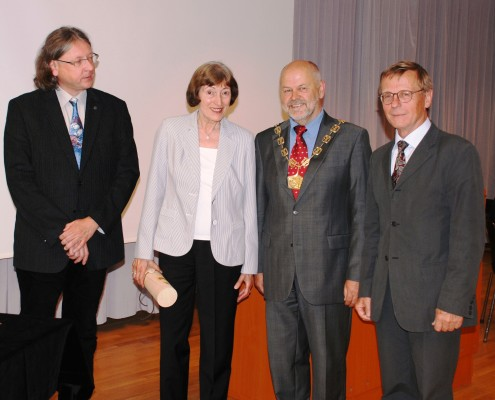 v.l.n.r.: Helmut Guggenberger, Melitta Mew, Hubert Lengauer und Manfred Lube | Foto: aau/KK