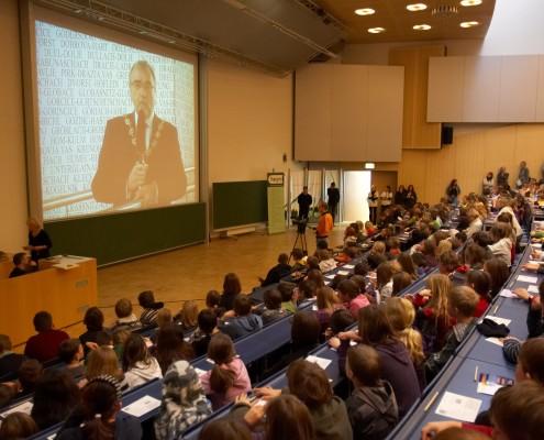 Begrüßung durch Rektor Heinrich C. Mayr   Foto: aau/Puch