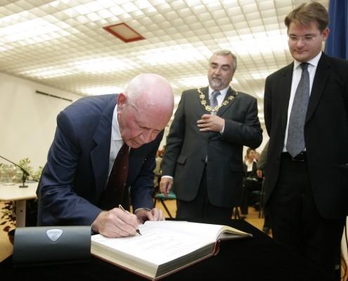 v. l. Josef Rattner, H. C. Mayr, Oliver Vitouch | Foto: aau/Puch