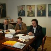 (v.li.) Hermann Hellwagner, Gerhard Friedrich, Alexander Felfernig, Christian Inzko | Foto: aau/KK