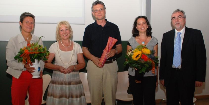 v. li.: Hübner, Menschik-Bendele, Rauch, Thaler, Mayr   Foto: aau/Wassner