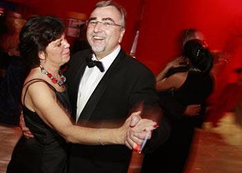 Foto Rektor Mayr mit Gattin   Foto: aau/Just