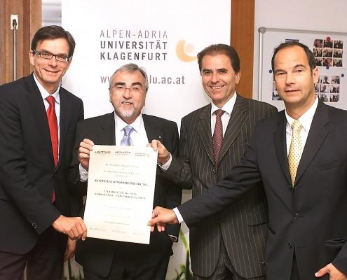 v.li.: Michael Junghans, Heinrich C. Mayr, Franz Paulus, Romed Karré | Foto: Fritz