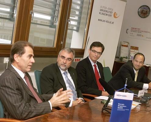 Pressekonferenz: v.li. nach re: Franz Paulus, Heinrich C. Mayr, Michael Junghans, Romed Karré | Foto: Fritz