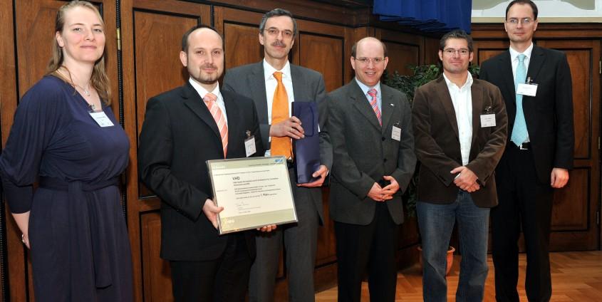 Mario Huemer (2. v. r.) und Projektpartner bei der Verleihung im Technischen Museum Wien | Foto: economyaustria/Andy Urban