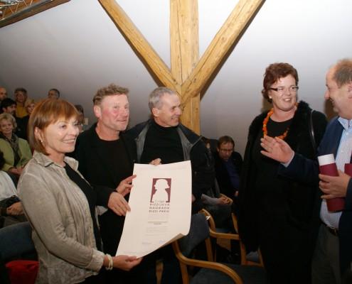 Rizzi-Preisverleihung 2009: v.l.n.r: Helga Rabenstein-Moser, Emil Krištof, Gerhard Pilgram, Doris Moser und Marijan Sturm | Foto: Polanšek