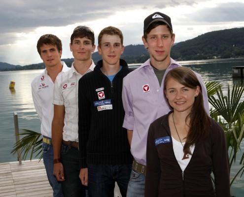v.l.n.r.: Niko Resch, Florian Berg, Christian Pichler, Martin Koch und Lisa Holzfeind | Foto: aau/Kuess