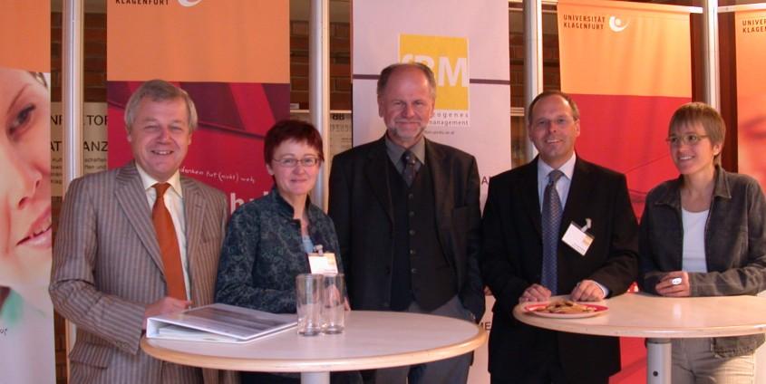 vlnr. Dobart, Wallner, Pelzelmayer, Krainer, Wenzl | Foto: aau/KK
