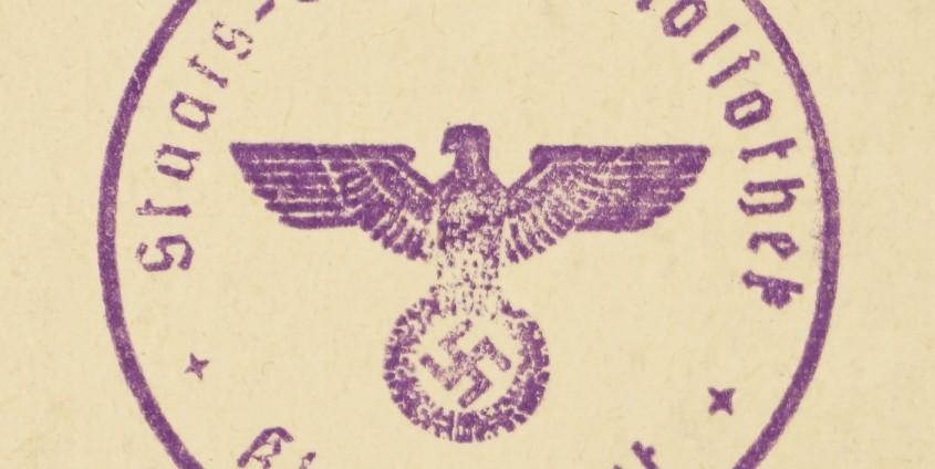 Studienbibliotheksstempel in der Nazizeit |Foto: AAU/Maier