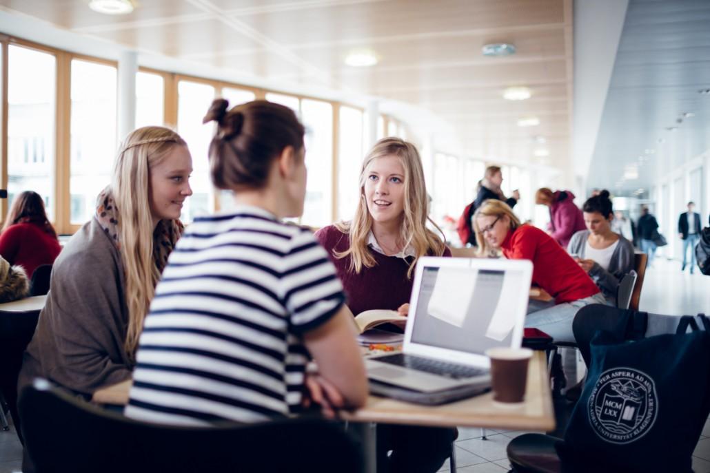 Gruppe von Studierenden mit Laptop | Foto: aau/tinefoto.com