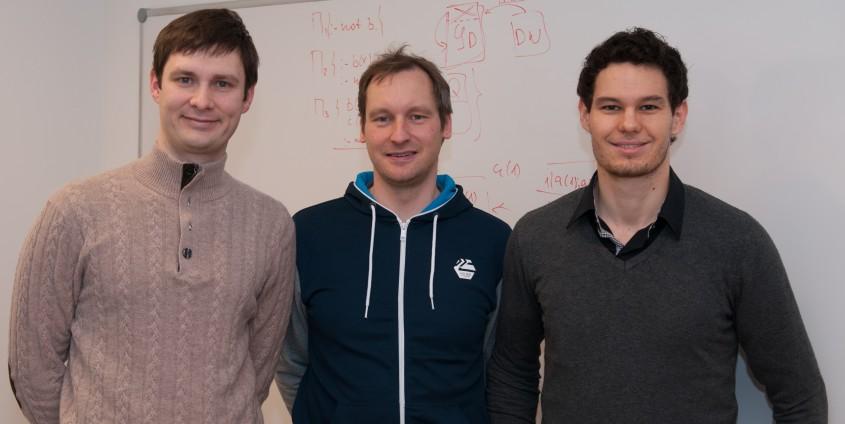 Projektteam Kategorisierung : Konstantin Schekotihin (links), Wolfgang Schmid (mitte) und Patrick Rodler (rechts) | Foto: Philip Gasteiger