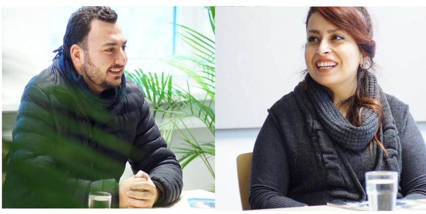 Ibrahim Khalil und Afarin Rasoli | Foto: aau/Müller