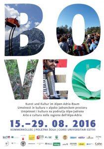 Plakat Sommerkolleg Bovec 2016