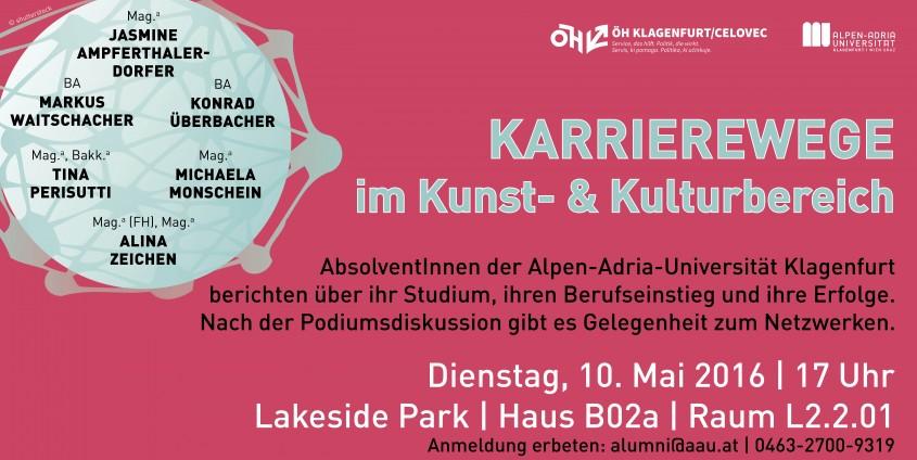 Karrierewege im Kunst- & Kulturbereich_SoSe2016 | Fotos: shutterstock
