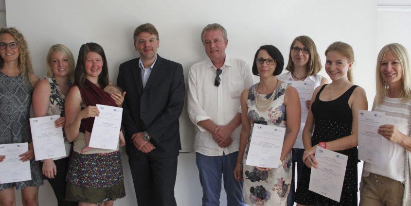 Günther-Stotz-Preis - PreisträgerInnen für die besten MK-Abschlussarbeiten | Foto: aau/Philipp Schwarz