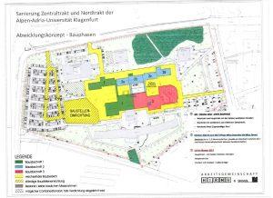 Plan Baustellenbereiche Bauphase 1