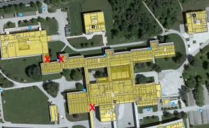 Generalsanierung -Bauphase 1: Gesperrte Stiegen und Eingänge