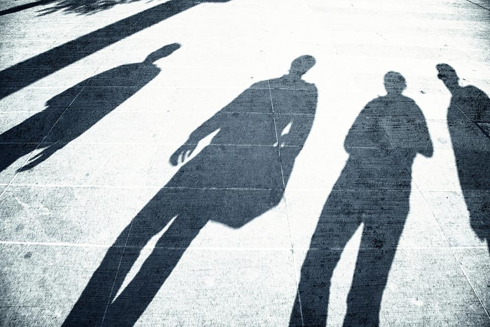 Schatten Menschen