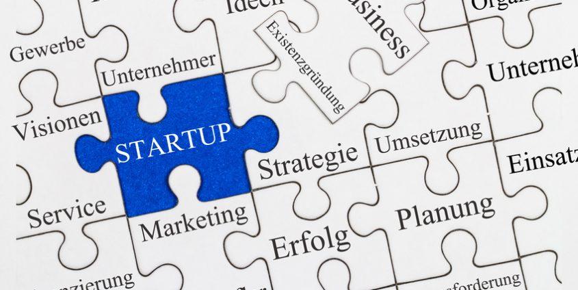 Startup Puzzle Konzept
