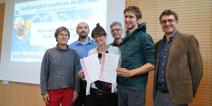 Zertifikatsverleihung Nachhaltigkeit | Foto: aau/Maier