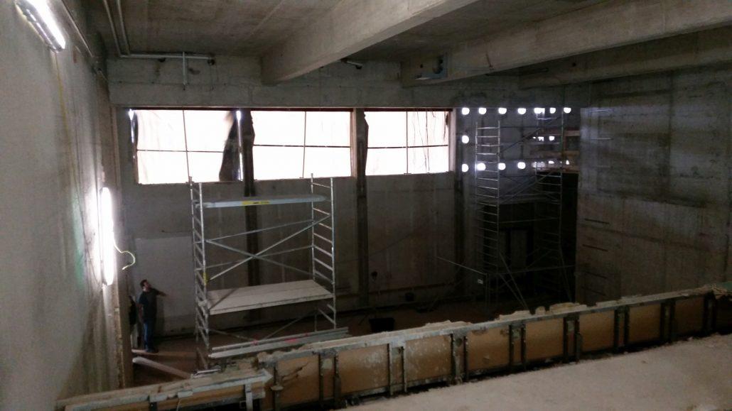 Sanierung- Hörsaal 4  Foto: aau/Martin Hitz