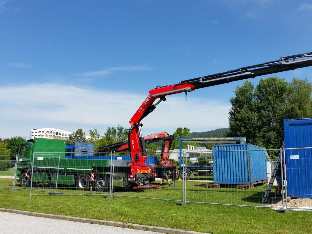 Sanierung - Baustelleneinrichtung   Foto: aau/Herta Maurer-Lausegger