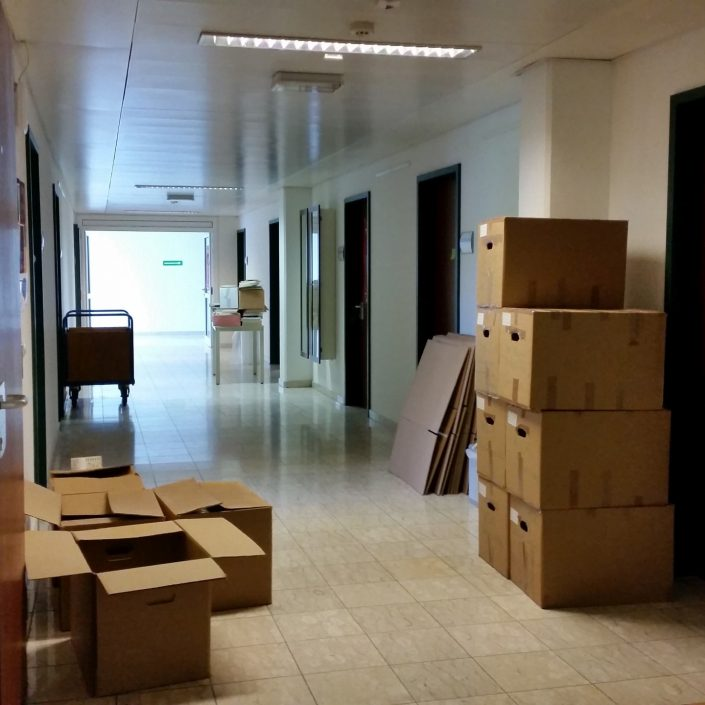 Sanierung - Räumung der Büros   Foto: aau/Herta Maurer-Lausegger