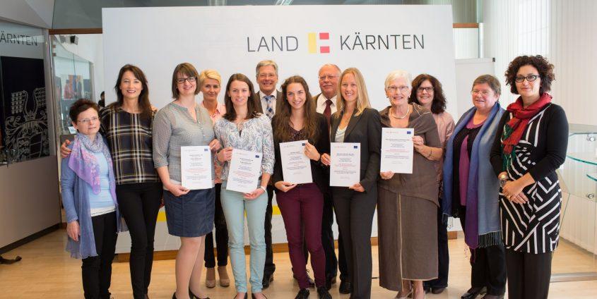 Verleihung des Europastipendiums 2016 des Landes Kärnten   Foto: LPD/Just
