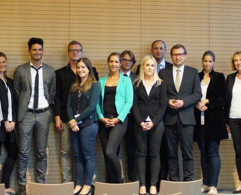 Die teilnehmenden UnternehmensvertreterInnen mit den Organisatorinnen von interactive! | Foto: aau/Müller