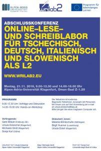 Plakat Abschlusskonferenz WRILAB2