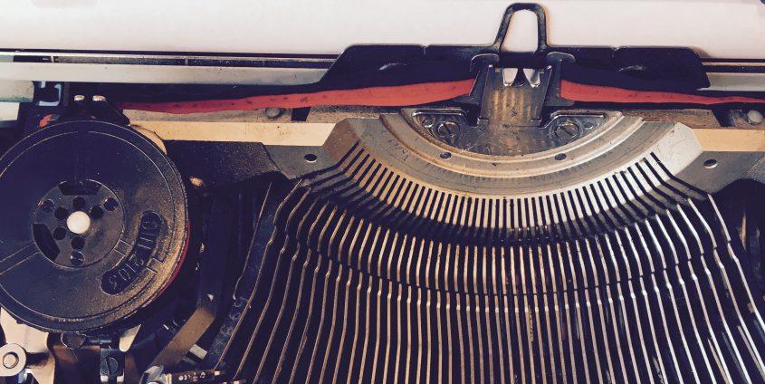 Schreibmaschine mit Datum 2.2.2017