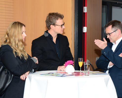 UnternehmensvertreterInnen der Firma Strabag - BRVZ und der Kleinen Zeitung im Gespräch | Foto: aau/Daniela Weiss