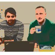 Ihtesham Haider & Bernhard Rinner | Foto: Matthias Weyrer mit der TrustEYE-Kamera