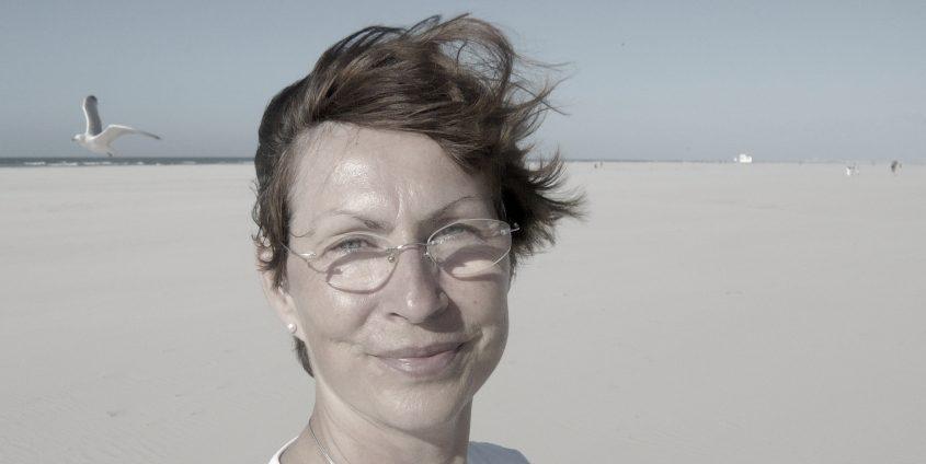 Sabine Seelbach auf der Insel Juist   Foto: Ulrich Seelbach