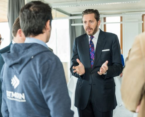 Staatssekretär Harald Mahrer im Gespräch mit Unternehmen | Foto: aau/Michael Stabentheiner