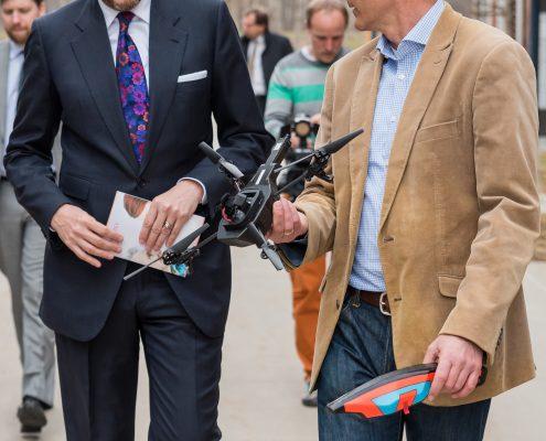 Staatssekretär Harald Mahrer im Gespräch mit Bernhard Rinner | Foto: aau/Michael Stabentheiner