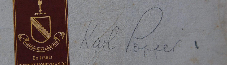 Ex Libris - Unterschrift Karl Popper
