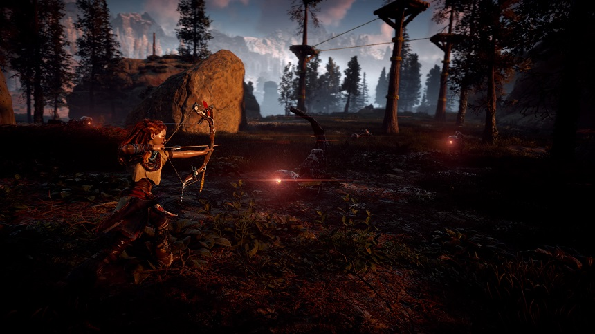 """Horizon Zero Dawn™ ©2017 Sony Interactive Entertainment Europe. Published by Sony Interactive Entertainment Europe. Developed by Guerrilla. """"Horizon Zero Dawn"""" is a trademark of Sony Interactive Entertainment Europe. All rights reserved."""