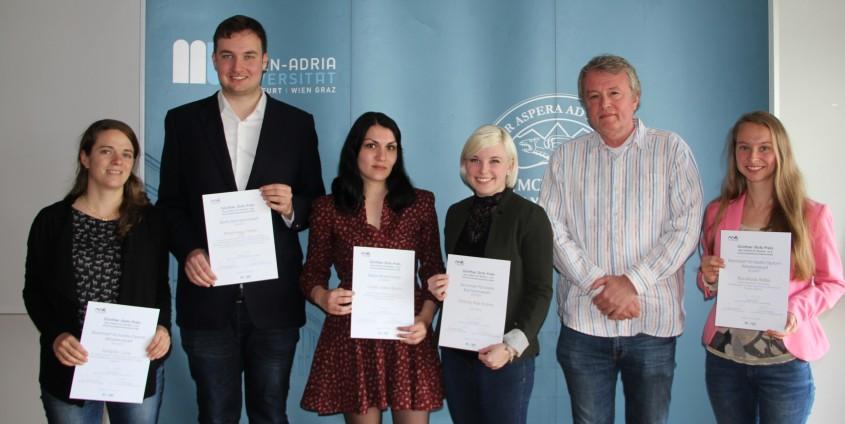 Günther-Stotz-Preis: PreisträgerInnen für die besten MK-Abschlussarbeiten 2017 | Foto: aau/Philipp Schwarz