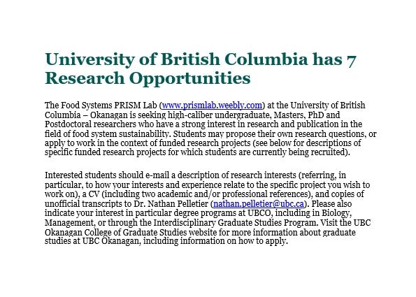 Job offer PRISM Lab