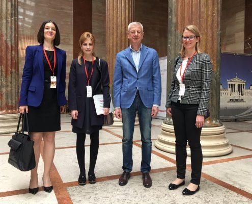 Ass.-Prof.in Dr.in Sanja Korać, Lana Werkl, Nationalratsabgeordneter Mag. Bruno Rossmann, Mag.a Birgit Moser beim Interview