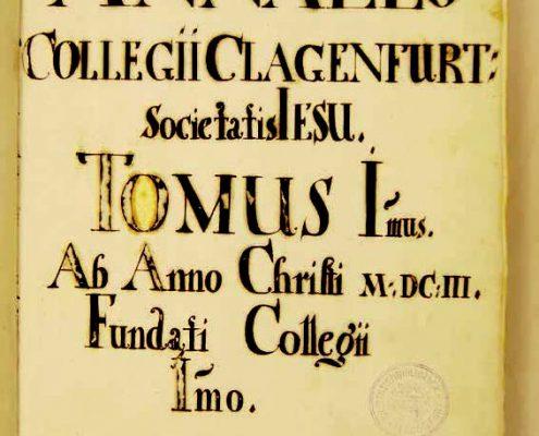 Jesuitenchronik Titelblatt