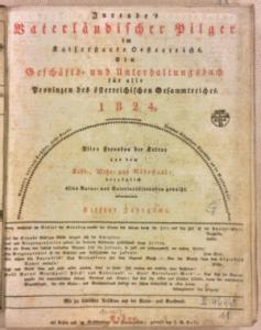Jurendes vaterländischer Pilger Titelblatt
