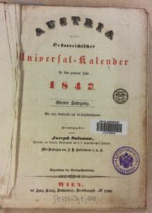 Österreichischer Universal Kalender Titelblatt