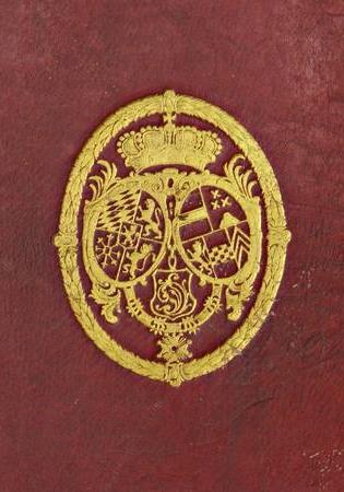 Wappen der Kurpfalz im Lorbeerkranz
