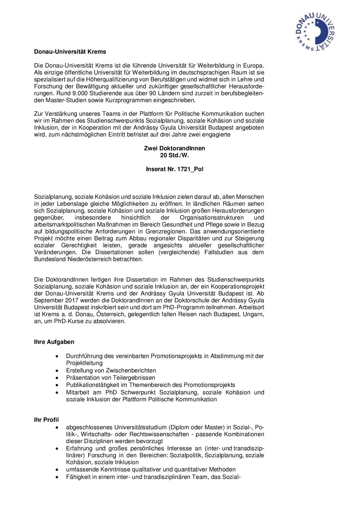 dissertation donau uni krems