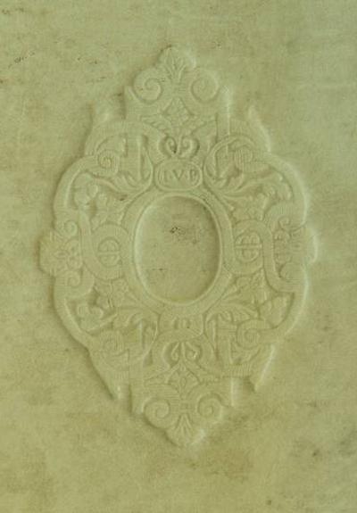 Blindstempel mit Initialen I.V.P, Universitätsbibliothek Klagenfurt: Signatur PO II 556925