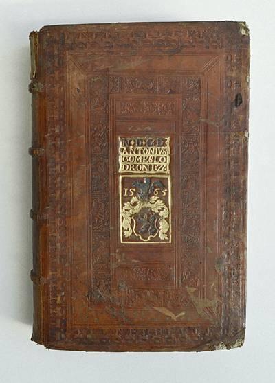 Wappen mit Aufschrift N. D. C. D. ANTONIUS COMES LODRON I. ZI. 1563, Universitätsbibliothek Klagenfurt: Signatur GO II 4124